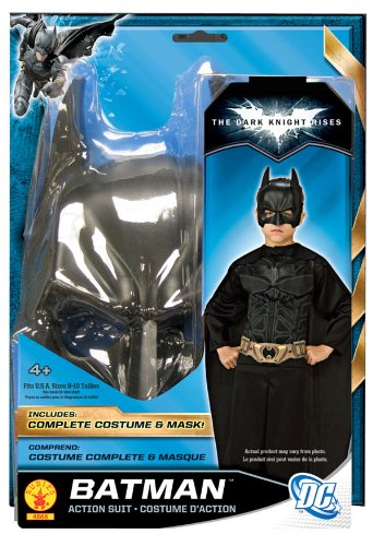 Batman Action Suit Jumpsuit Blister Costume Kit Child