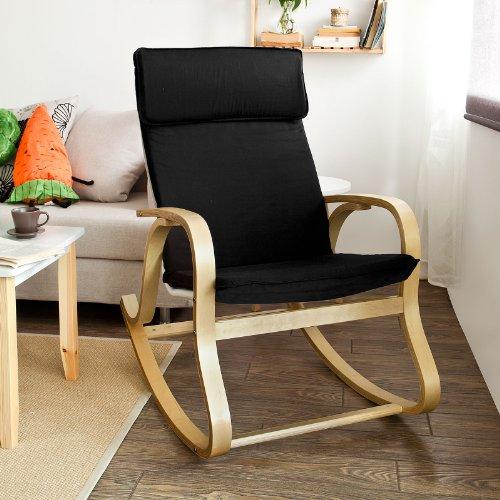 Sobuy fst15 sch rocking chair fauteuil bascule fauteuil ber ant fauteuil - Fauteuil gonflable ikea ...