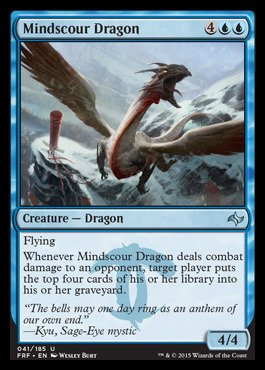 Magic: the Gathering - Mindscour Dragon (041/185) - Fate Reforged (Mtg Blue Dragons compare prices)