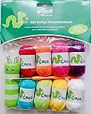 Gründl Coco Kinderbastelset 8x Wolle à 10 g. 1x Strickliesel + 1x Häkelnadel incl.