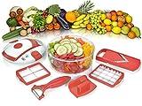 Genius Salat Chef Smart Set 6-tlg. Salat Obst Gemüse Schneider