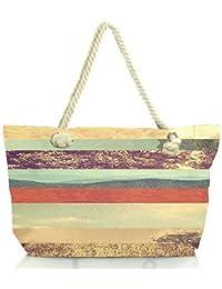 Snoogg Travel Story Women Anchor Messenger Handbag Shoulder Bag Lady Tote Beach Bags Blue