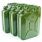 3 x 20 Liter Benzinkanister Metall GGVS mit Sicherungsstift -