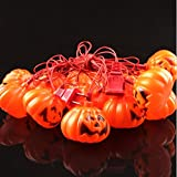 E-gole Set of 16 Halloween Lantern Pumpkin Decoration String Lights-For holiday, festival, party decor