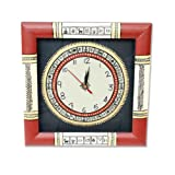 Unravel India Warli Hand Painted Wooden Clock (Red & Black)