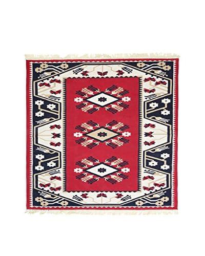 Floor Decor Alfombra Doubleface Milas Rojo/Marfil/Multicolor