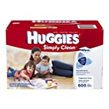 Huggies Simply Clean Fragrance Free Baby Wipes Refill