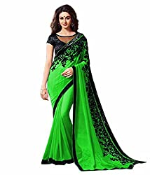 khanak export Women's Georgette Saree(KE_11_Multi-Coloured_Free Size)