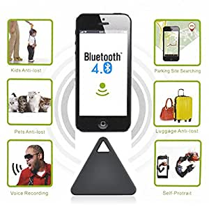 Angibabe AE00001 Wireless Bluetooth V4.0 Triangle Electronic Anti-lost Alarm Device for Remote Selfie / Recording / Location Black