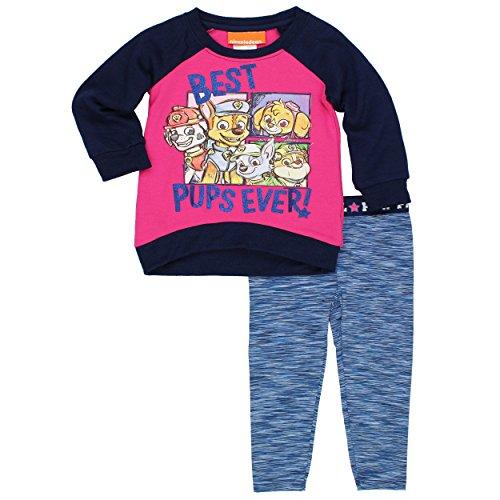 Paw Patrol Girls Fleece Sweatshirt and Space Dye Legging Set (Toddler/Little Kid)