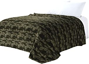 Euphoria Super Soft Fleece Prints Throw Blanket for Sofa Couch Lounge Bed Bedding Military Camouflage Design 230 x 200cm