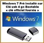 windows 7 pro avec licence + cl� usb...