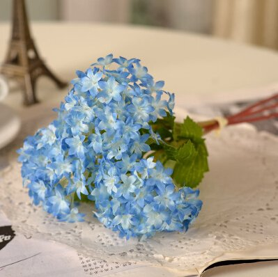 12 pcs Mini Hydrangea Artificial Silk