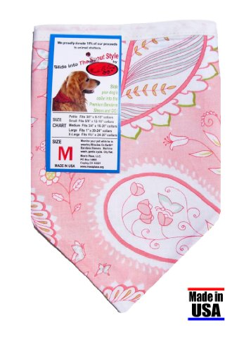 Dog Bandana - Lilac's Cotton Candy in Scout Style,