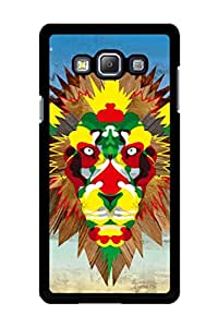 Caseque The Abstract Lion Back Shell Case Cover For Samsung Galaxy A7