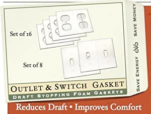 Gasket Covers, Electrical Outlet & Light Switch Plate Draft Stopper Foam Gaskets (1)