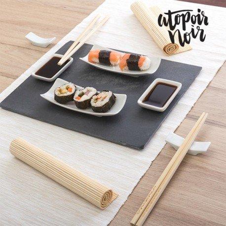 set-sushi-con-vassoio-in-ardesia-atopoir-noir-11-pezzi-oriente-per-2-persone
