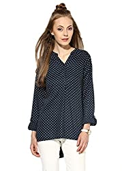 Raindrops Women's Top(1187A004F-Dark Blue-M)