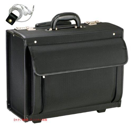 シューズ&バッグ かばん・ラゲッジ ビジネスバッグ パイロットケース フライトバッグ ノートパソコン対応 キャリーバッグ B4ファイル対応 20034 (ブラック) GUSTO [ガスト] 【牛革製ケーブルバンドセット】