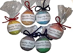 Tranquility Products 6 Pack Random Scented Bath Bombs