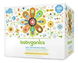 Babyganics Face, Hand & Baby Wipes, Fragrance Free, 400 Count (Contains Four 100-Count Packs), Packaging May Vary thumbnail