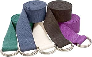 YogaAccessories (TM) 8' D-Ring Buckle Cotton Yoga Strap by YogaAccessories (TM)