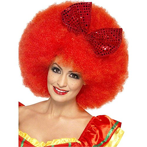 Mega Red Afro Clown Wig - One Size