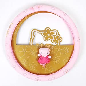 Hello Kitty Auto Car Steering Wheel Cover Pink