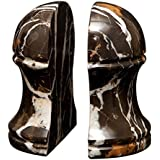 Hermes Bookends - Black and Gold Marble