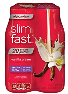 Slim-Fast! 3-2-1 Ready To Drink, High Protein, Vanilla Cream, 4 Count, 10 Ounce Bottles