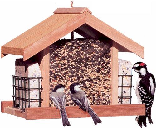 Deluxe chalet bird feeder