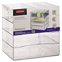 4-way Rubbermaid Optimizers Organizer with Drawers