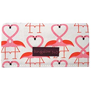 Bungalow360 Vegan Natural Cotton Wallets-Fun Animal Prints (Flamingo)