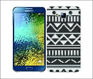 Galaxy Printed 2873 Stiched Aztec Black and white Hard Cover for Samsung A5