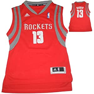 NBA HOUSTON ROCKETS HARDEN #13 Youth Athletic Jersey Top with Embroidered Logo &... by NBA