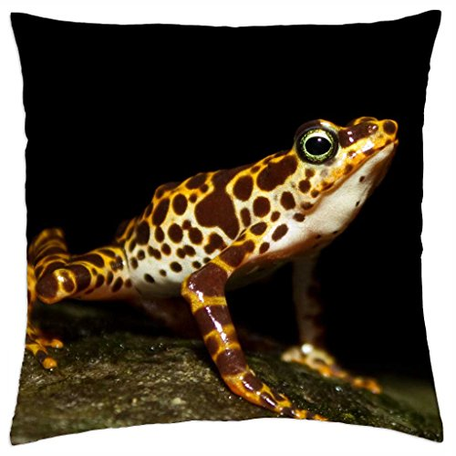 "extinct frog - Throw Pillow Cover Case (18"" x 18"")"