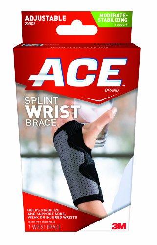 Ace Splint Wrist Brace, Reversible, One Size Adjustable (Ace Bandage Wrist compare prices)
