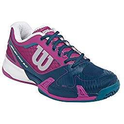 Women`s Rush Pro 2.0 Tennis Shoes (9.5, Dark Peony/Pacific Teal/ULT)