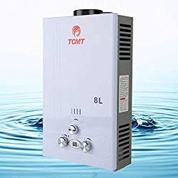 2GPM Tankless 8L On Demand Boiler Instant Hot Water Heater LPG Gas Bath House