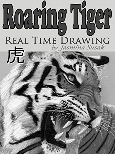 Roaring Tiger Real Time Drawing by Jasmina Susak