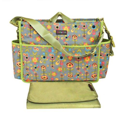 Momymoo Premium Lulu Baby Changing Bag (Grey Flowers)