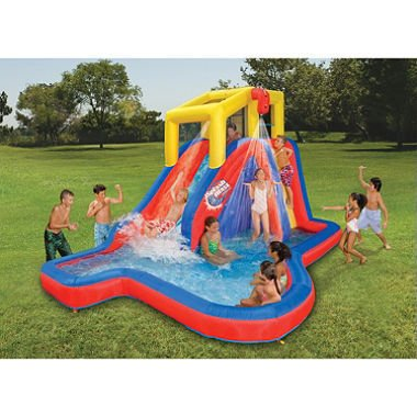 Lowest Prices! Banzai Splash Blast Water Slide