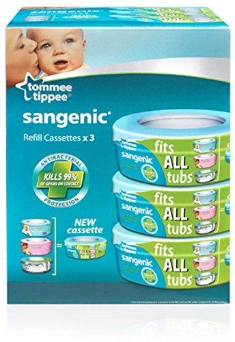 Sangenic Compatible Cassette (pack Of 3) 3-pack By Tommee Tippee