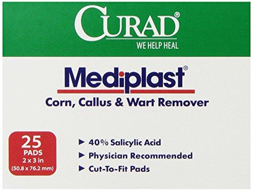 Curad Mediplast 40% Salicylic Acid Pads, 25 Count (Salicylic Acid Callus Remover compare prices)