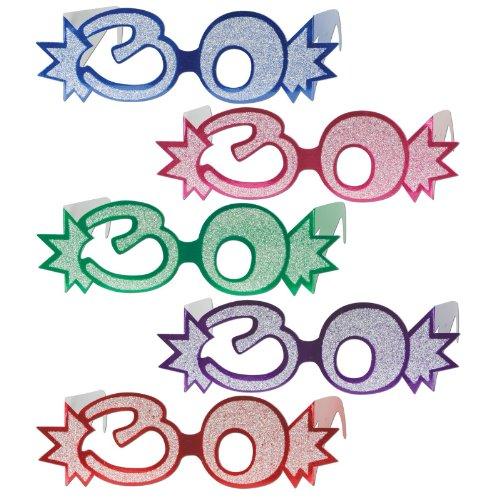 """1 X Glittered Foil Eyeglasses """"30"""" Asst. - 1"""