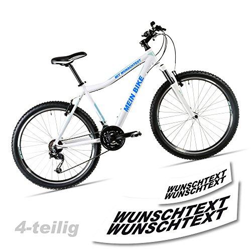 Wunschtext-Beschriftung-Fahrradaufkleber-fr-Rahmen-4-teilig-Fahrrad-Aufkleber-TOP-SE003