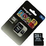 Acce2S - CARTE MEMOIRE 16 GO pour LG T385 WiFi MICRO SD HC + ADAPT SD integral