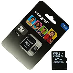 Acce2S - CARTE MEMOIRE 16 GO pour SAMSUNG Galaxy S4 Mini MICRO SD HC + ADAPT SD integral