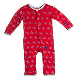 KicKee Pants Baby-boys Print Coverall (Newborn, Balloon Jacks)