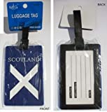 TWO Scottish -Saltire Luggage Tags